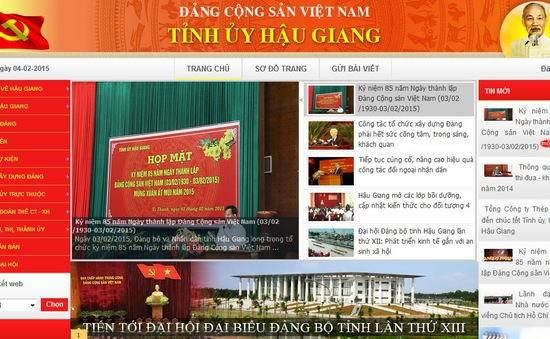 Ra mắt cổng thông tin điện tử Tỉnh ủy Hậu Giang