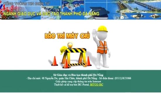 Website Sở GD&ĐT Đà Nẵng bị hacker tấn công
