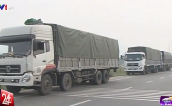Hà Tĩnh phát hiện 10 xe quá tải vượt trạm cân