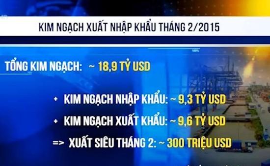 Việt Nam xuất siêu trở lại trong tháng đầu năm mới