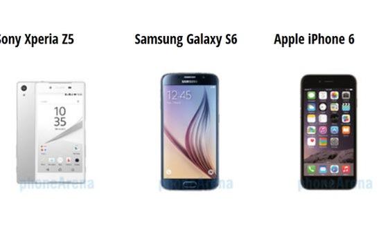 Bạn chọn Xperia Z5, Galaxy S6 hay iPhone 6?
