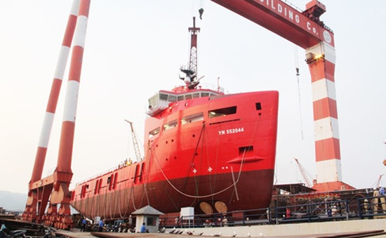 Hạ thủy tàu dịch vụ dầu khí PSV 3300