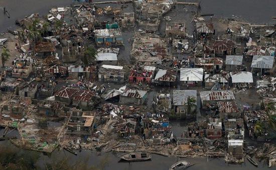 Haiti đối mặt nguy cơ dịch tả lan nhanh sau bão Matthew