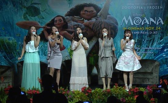 Café Sáng với VTV3: Minh Như trình diễn tại họp báo quốc tế Moana