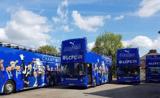 Leicester City chơi trội, dùng tới 4 chiếc xe buýt để rước cúp