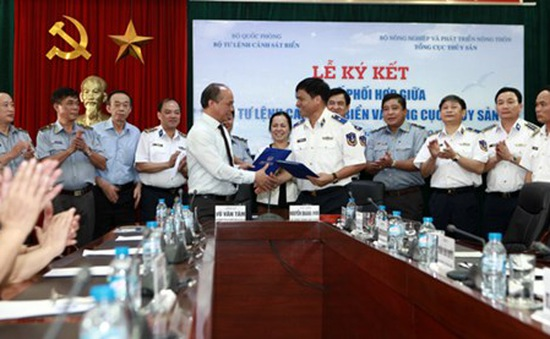 Cảnh sát biển ký kết quy chế phối hợp với Tổng cục Thủy sản