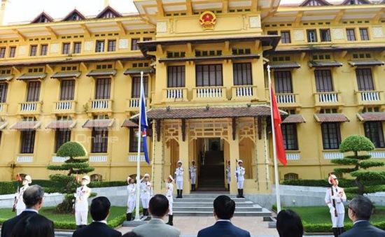Lễ thượng cờ ASEAN tại trụ sở Bộ Ngoại giao