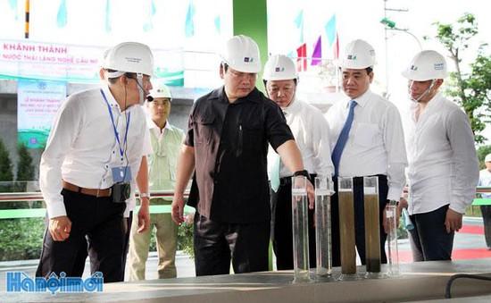 Khánh thành nhà máy xử lý nước thải làng nghề đầu tiên ở Hà Nội