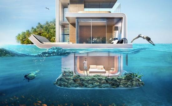 """Chiêm ngưỡng biệt thự """"nửa chìm dưới biển"""" siêu sang tại Dubai"""