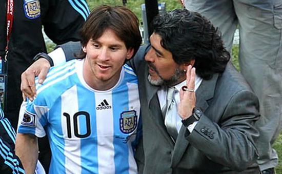 Messi và Maradona không nói chuyện với nhau nhiều năm qua