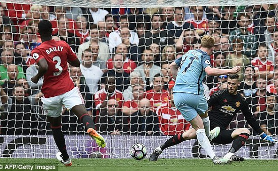 Man Utd 1-2 Man City: Sắc xanh rợp Old Trafford!