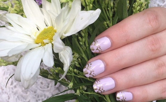 Những mẫu nail đơn giản mà đẹp cho cô dâu trong ngày cưới