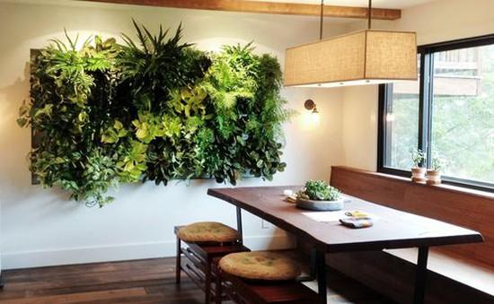 Xu hướng tạo mảng xanh trên tường trong kiến trúc