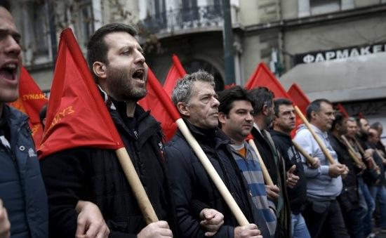 Hy Lạp: Tổng đình công phản đối cải cách lương hưu