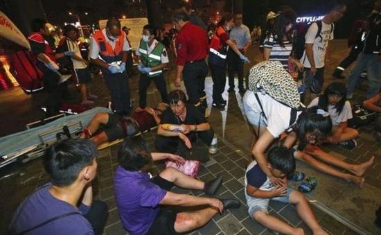 Hiện trường hỗn loạn sau vụ nổ tàu ở Đài Loan (Trung Quốc)