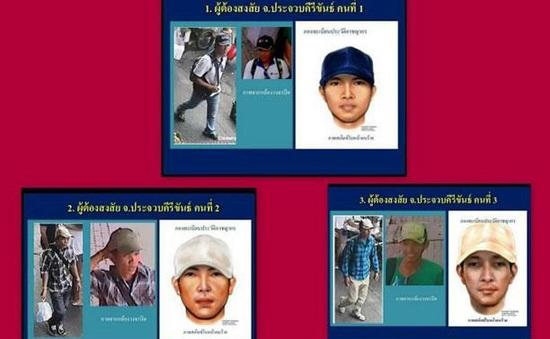 Thái Lan công bố phác họa 3 nghi phạm loạt vụ đánh bom ở miền Nam