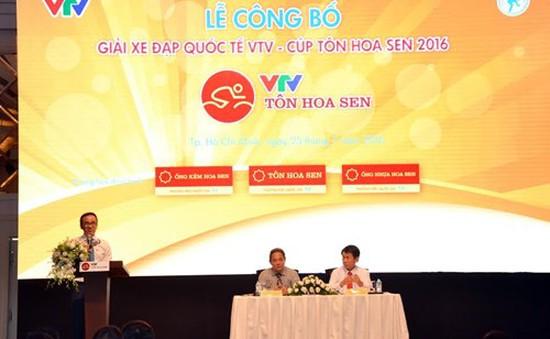 Công bố giải đua xe đạp quốc tế VTV – Cúp Tôn Hoa Sen 2016