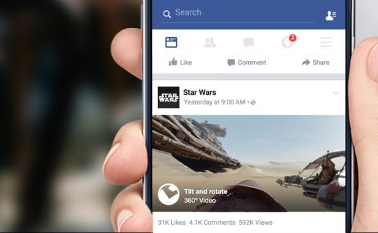 Tính năng phát trực tuyến video 360 độ đã có mặt trên Facebook