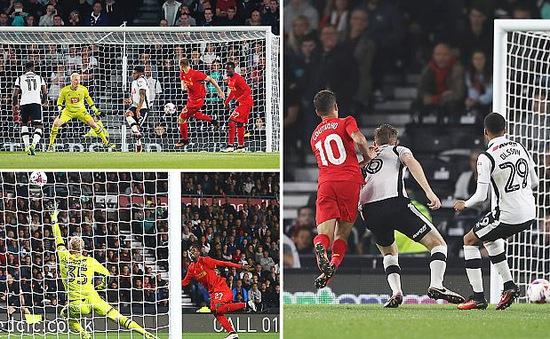 VIDEO, Derby County 0-3 Liverpool: Tiếp đà thăng hoa