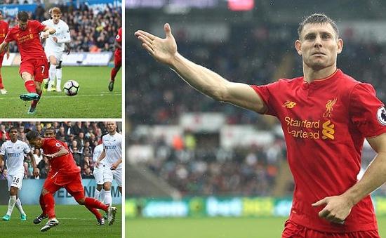 Swansea 1-2 Liverpool: Quỷ đỏ áp sát ngôi đầu