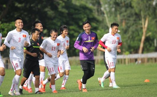 ĐT Việt Nam chuẩn bị cho trận chung kết với Singapore: Thoải mái và tự tin