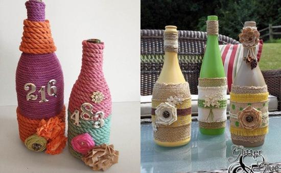 Ý tưởng trang trí thú vị sử dụng chai thủy tinh và chai nhựa