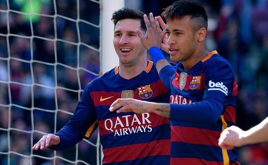"""Neymar, Messi """"lên đồng"""", Barcelona độc chiếm ngôi đầu La Liga"""