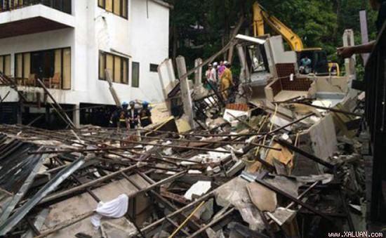 Sập khách sạn tại Thái Lan, 1 du khách thiệt mạng, 5 người bị thương