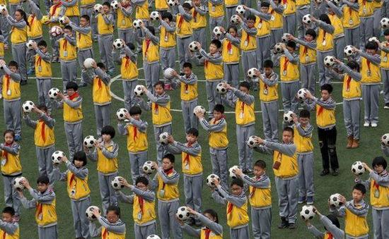 Trung Quốc tăng cường tập thể dục trong trường học