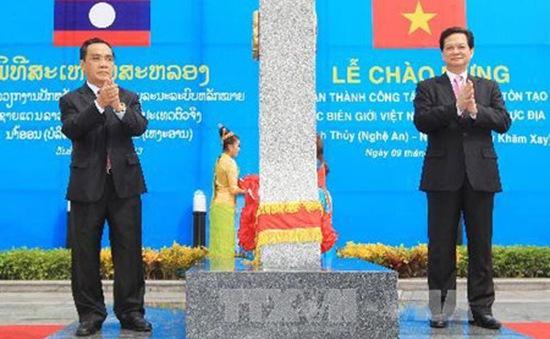 Bổ sung, cắm mới hơn 1.000 cột mốc và cọc dấu biên giới Việt Nam - Lào