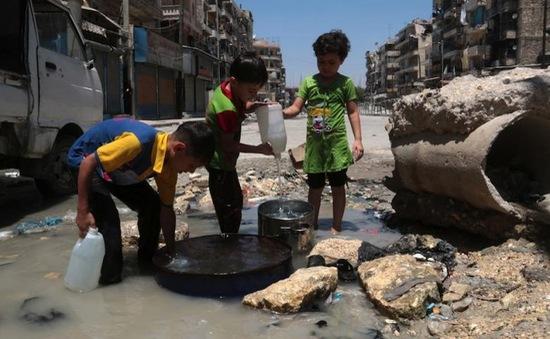 Thành phố Aleppo thiếu nước sạch trầm trọng