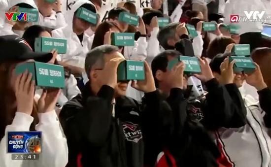 Theo dõi trận đấu bóng chày bằng kính thực tế ảo