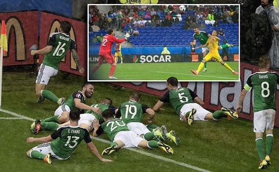 VIDEO EURO 2016, Ukraine 0-2 Bắc Ireland: Thắng thuyết phục, nuôi hi vọng!