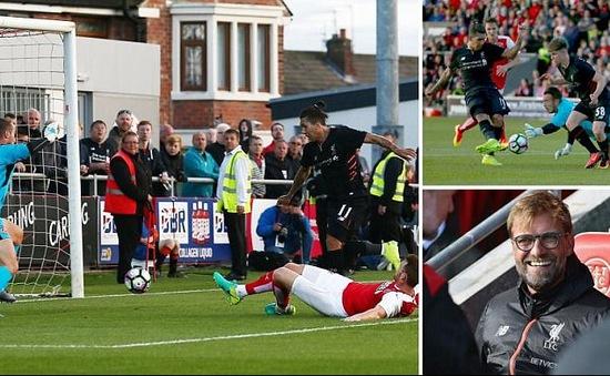 VIDEO: Firrmino lập cú đúp, Liverpool đại thắng đối thủ hạng dưới