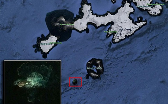 """Quái vật truyền thuyết Kraken bị """"bắt sống"""" trên Google Earth"""