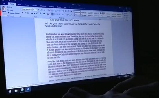 Trốn đi thực tập, sinh viên tự chế báo cáo dài hàng chục trang