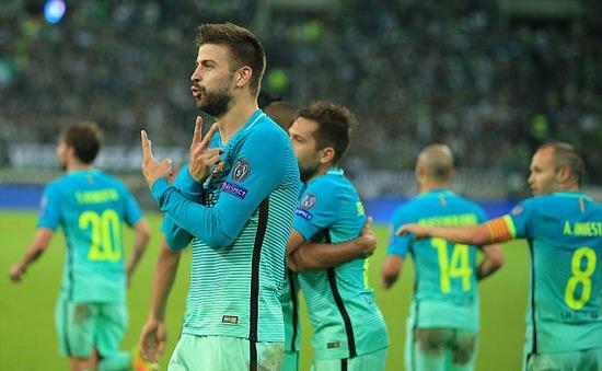 Vắng Messi, Barcelona nhọc nhằn ngược dòng trước Moenchengladbach