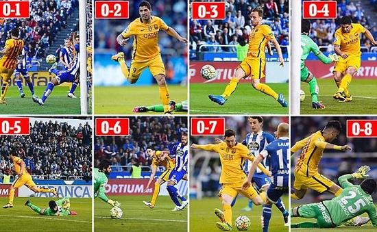 In dấu giày vào 7 bàn, Suarez đi vào lịch sử Liga