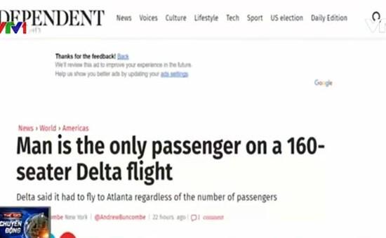Chuyến bay 160 ghế chỉ có 1 hành khách
