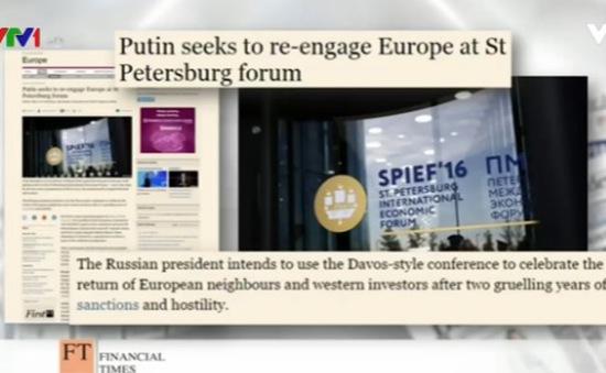 Diễn đàn Kinh tế Quốc tế St.Petersburg - Tâm điểm báo chí thế giới
