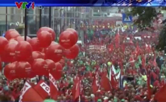 60.000 người biểu tình chống chính sách khắc khổ tại Brussels, Bỉ