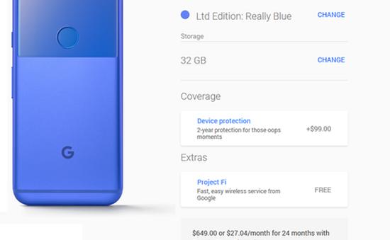 Pixel phiên bản giới hạn màu xanh trở lại trên Google Store