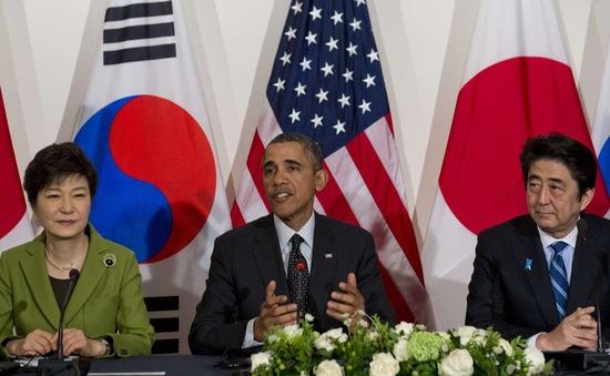 Mỹ, Nhật, Hàn chung tay cứng rắn với Triều Tiên
