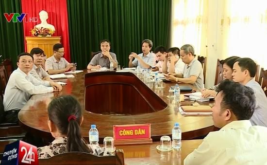 Đoàn công tác liên bộ làm việc với ngư dân Quảng Bình