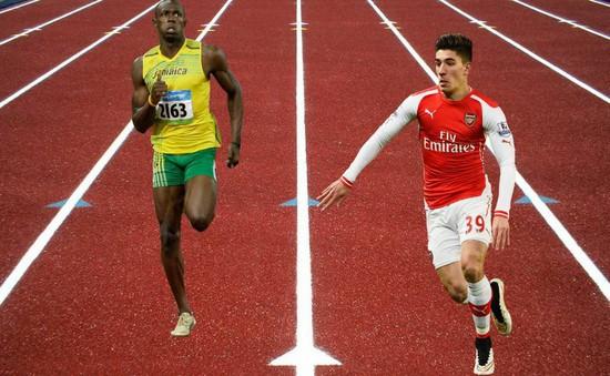 """""""Vua tốc độ"""" Arsenal thách đấu """"Tia chớp"""" Usain Bolt"""