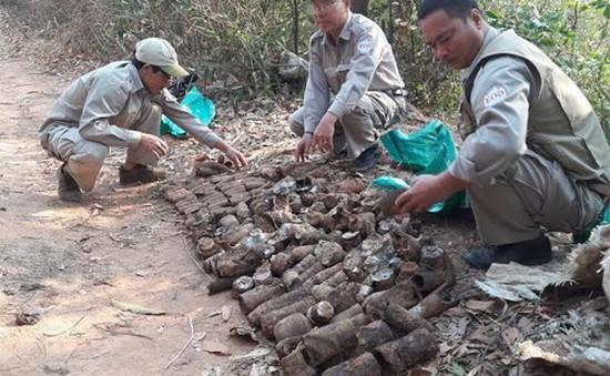 Phát hiện bom tại khu vực biên giới