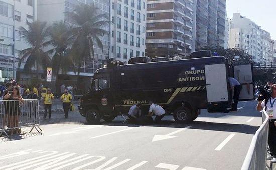 Brazil: Nổ có kiểm soát túi lạ gần đích cuộc đua xe đạp