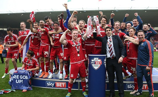 Middlesbrough trở lại giải Ngoại hạng Anh sau 7 năm