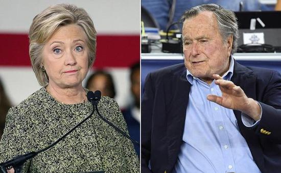 Cựu Tổng thống Bush cha sẽ bỏ phiếu cho bà Clinton
