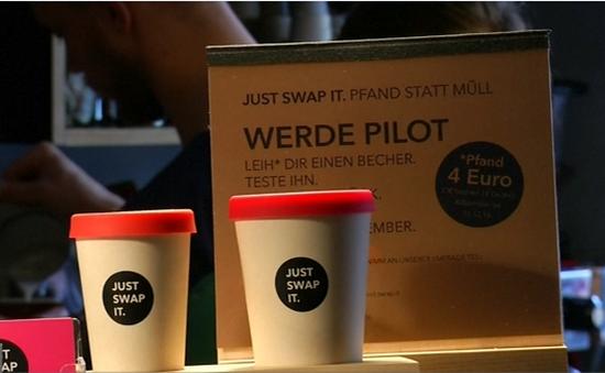 """Độc đáo sáng kiến """"Cốc cà phê bền vững"""" tại Đức"""